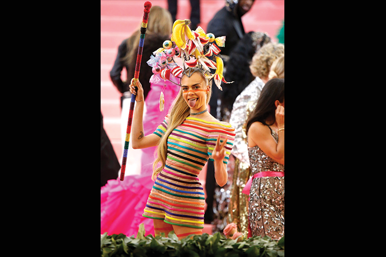 Cara Delevingne attends The 2019 Met Gala Celebrating Camp: Notes on Fashion at Metropolitan Museum of Art on May 06, 2019 in New York City. (Photo by John Lamparski/Getty Images)