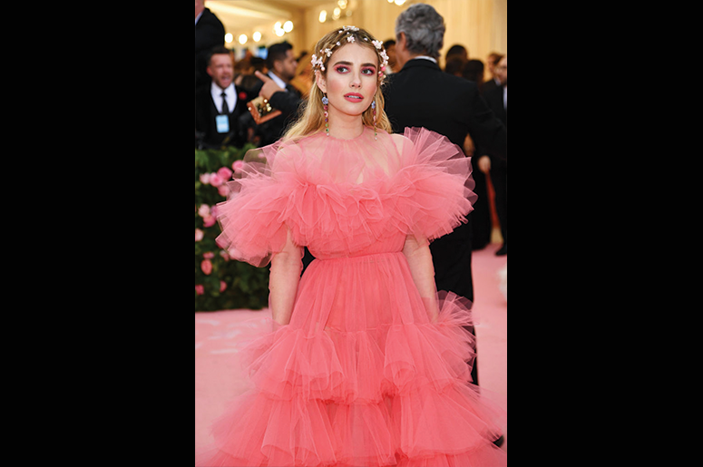 Emma Roberts attends The 2019 Met Gala Celebrating Camp: Notes on Fashion at Metropolitan Museum of Art on May 06, 2019 in New York City. (Photo by Dimitrios Kambouris/Getty Images for The Met Museum/Vogue)