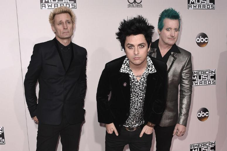 Rock band Green Day at ABCs American Music Awards