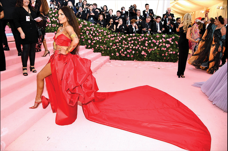 Halsey attends The 2019 Met Gala Celebrating Camp: Notes on Fashion at Metropolitan Museum of Art on May 06, 2019 in New York City. (Photo by Dimitrios Kambouris/Getty Images for The Met Museum/Vogue)