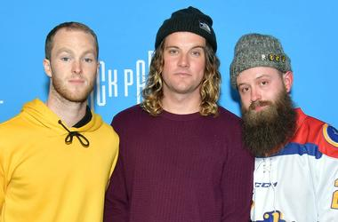 Brian Macdonald, Judah Akers, and Nate Zuercher of Judah & The Lion attend the AT&T Block Party during the NCAA March Madness Music Series at The Armory on April 05, 2019.