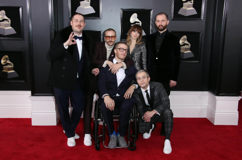 Portugal. The Man arrives at the 60th Annual Grammy Awards