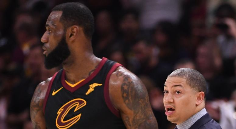 Ty Lue and LeBron James
