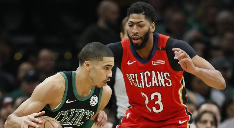 Jayson Tatum and Anthony Davis