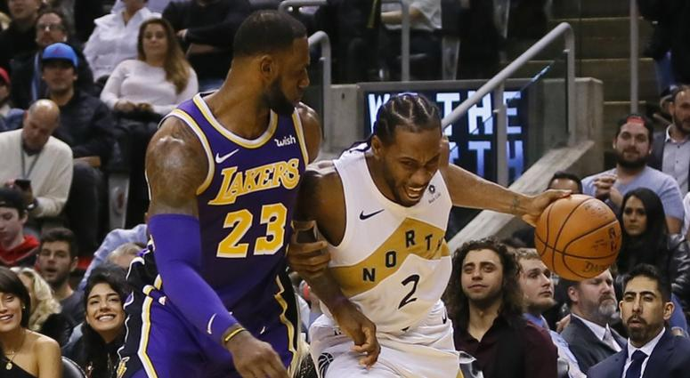 Kawhi Leonard and LeBron James