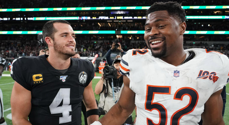Khalil Mack and Derek Carr