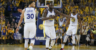 Steph Curry, Draymond Green and Kevin Durant