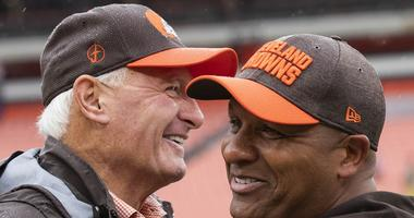 Jimmy Haslam and Hue Jackson