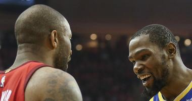 PJ Tucker and Kevin Durant