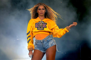 INDIO, CA - APRIL 14: Beyonce Knowles performs onstage during 2018 Coachella Valley Music And Arts Festival Weekend 1 at the Empire Polo Field on April 14, 2018 in Indio, California.