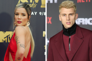 "6/16/2018 - Halsey attending the 2018 MTV Movie and TV Awards held at the Barker Hangar in Los Angeles, USA. / 13 December 2017 - Los Angeles, California - Machine Gun Kelly. ""Bright"" Los Angeles Premiere held at Regency Village Theatre."