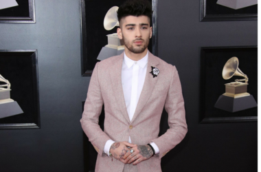 Zayn Malik arrives at the 60th Annual Grammy Awards