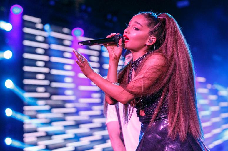 Ariana Grande performs