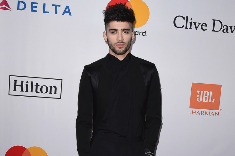 Zayn Malik at the 2018 Clive Davis Pre-Grammy Gala