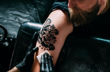 Tattoo being applied