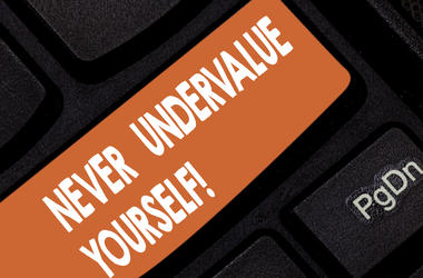 Text Never Under Value Yourself