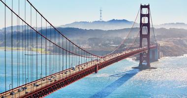 Golden Gate Bridge - San Francisco Skyline