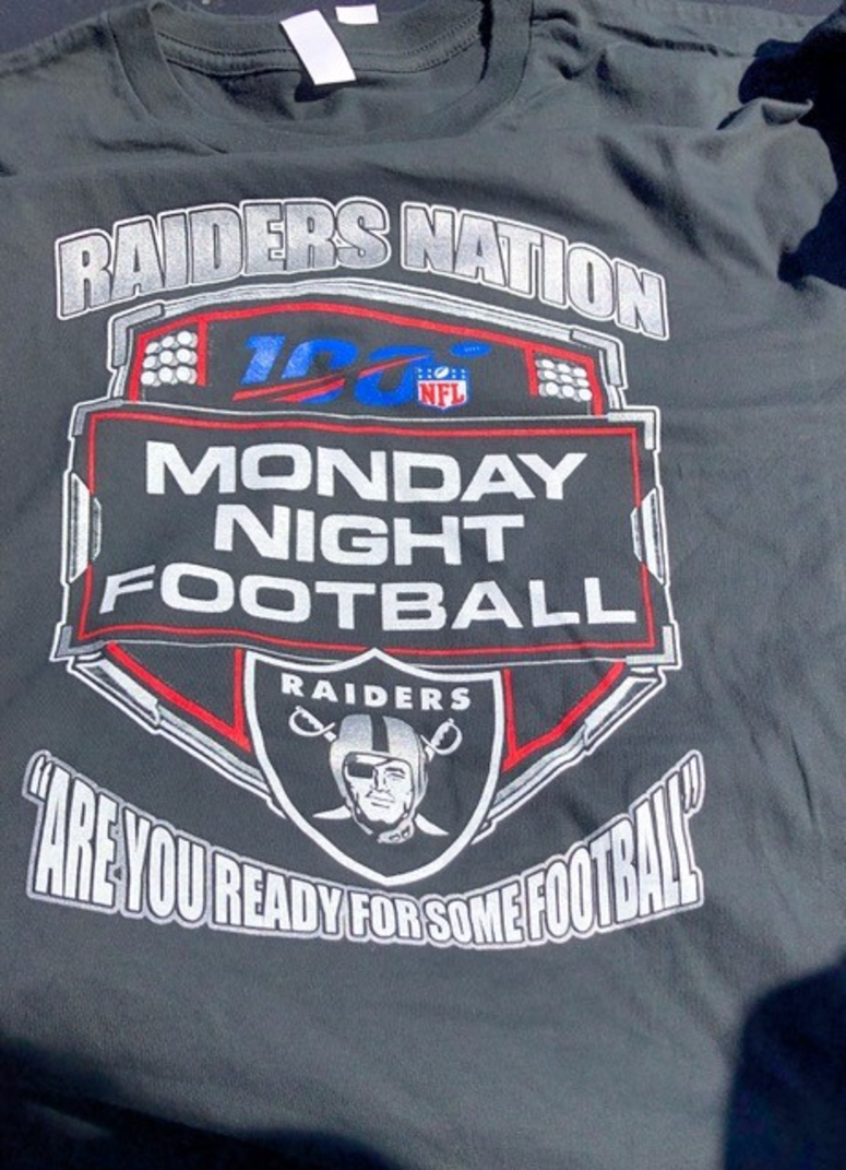 low priced 842d7 09a29 Fake NFL Merchandise Targeted By ICE At Oakland Raiders Game ...