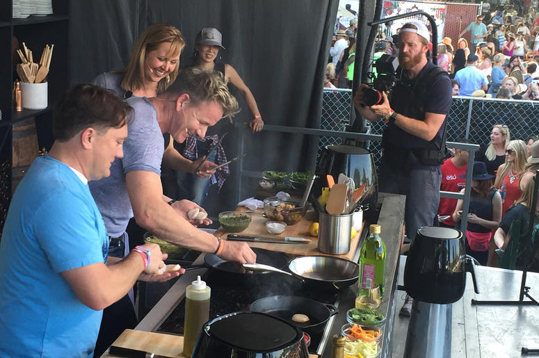 Chef Amanda Haas and Liam at BottleRock Napa Valley