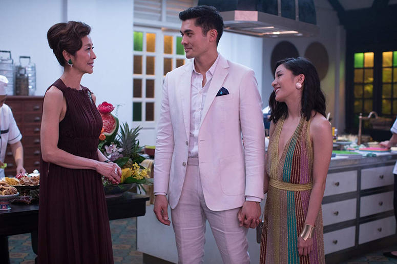 Michelle Yeoh, Henry Golding and Constance Wu in 'Crazy Rich Asians' (Photo credit: Warner Bros)