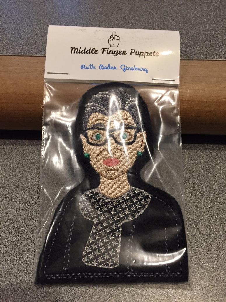 "Ruth Bader Ginsburg ""Middle Finger Puppet"""