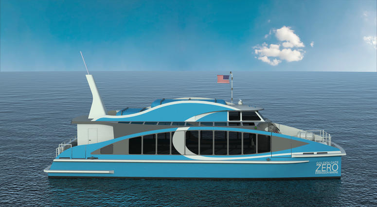 The Water-Go-Round ferry's fuel-cell technology will enable it to run two days without filling up the tank.