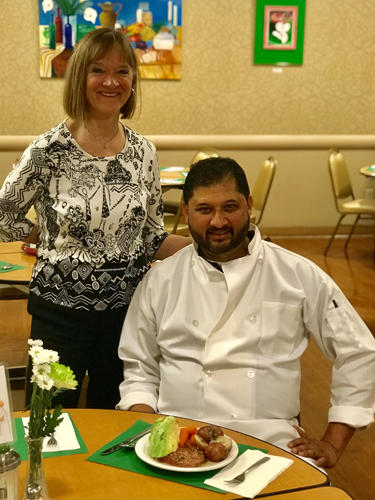 Chef Rick and Valerie Villela With On Lok Senior Services