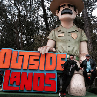 Liam and his partner Rick at Outside Lands