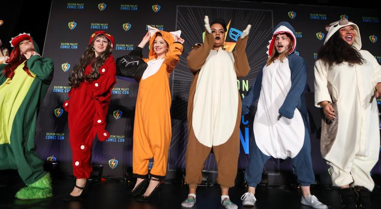 """The so-called """"geek fashion"""" show at the 2018 Silicon Valley Comic Con in San Jose."""