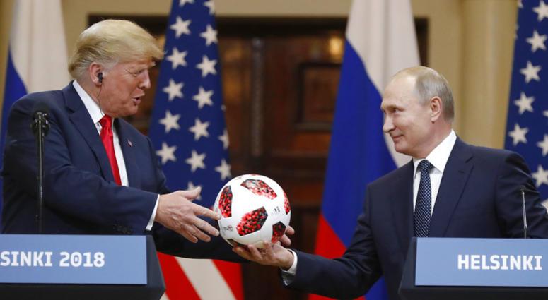 President Trump and Putin at Helsinki summit