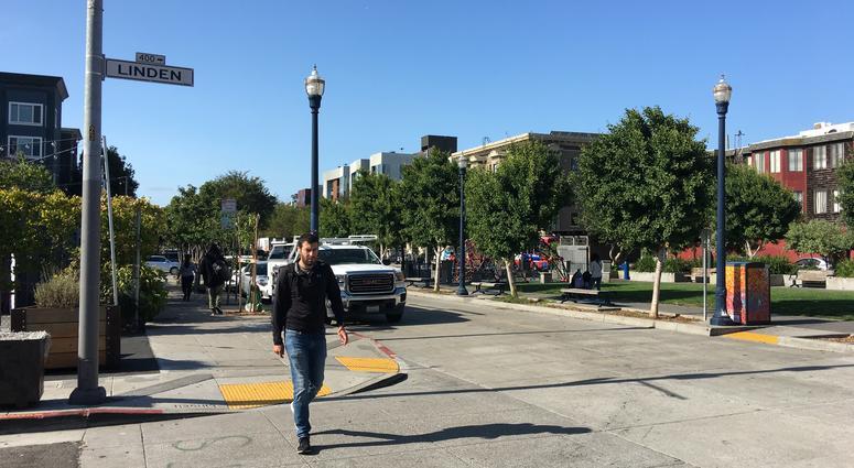 Octavia Boulevard at Linden Street in San Francisco