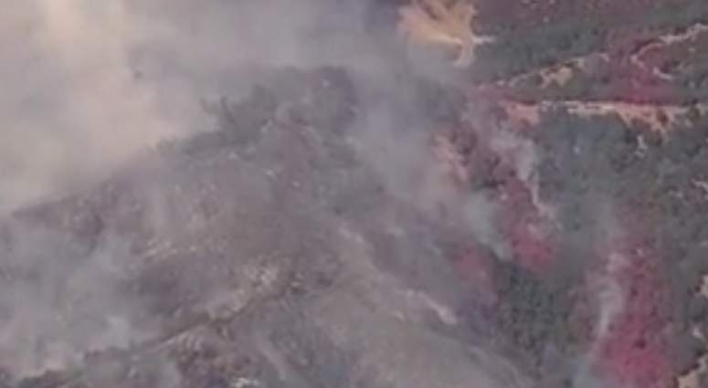 The Canyon Fire started burning near Lake Berryessa on July 22, 2019.