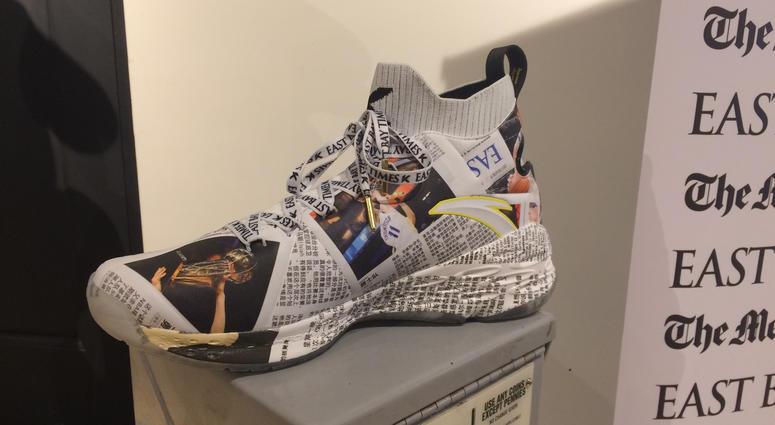 6f85b5da1950e Klay Thompson New Sneaker Comes With Newspaper Subscription   KCBS ...