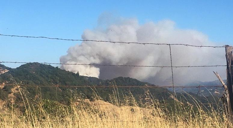 Moose Fire Burns In Mendocino County