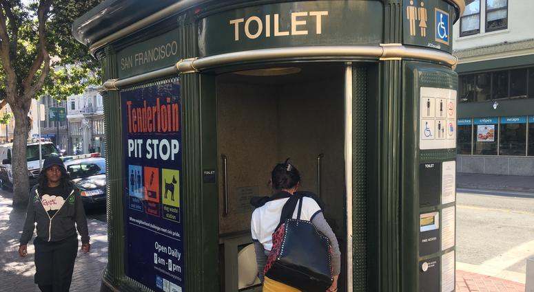 Public Pit Stop toilet in San Francisco's Tenderloin neighborhood