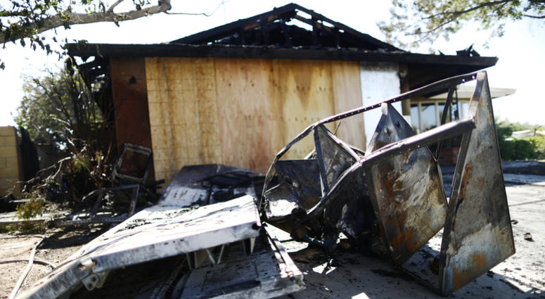 Home Charred By Fire After Ridgecrest Earthquake