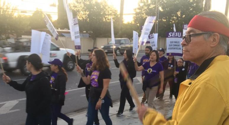 Santa Clara County Workers On Strike