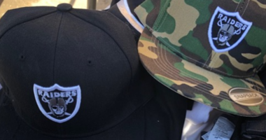 Agents from a branch of Immigration and Customs Enforcement confiscated $11,000 in allegedly counterfeit merchandise from vendors outside of the Oakland Raiders game on Sept. 9, 2019.