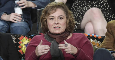 """In this Jan. 8, 2018, file photo, Roseanne Barr participates in the """"Roseanne"""" panel during the Disney/ABC Television Critics Association Winter Press Tour in Pasadena, Calif. ABC canceled its hit reboot of """"Roseanne"""" on Tuesday, May 29, 2018, following s"""