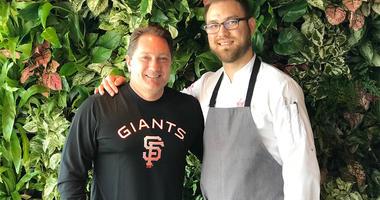 Chef Adrian Garcia and Liam