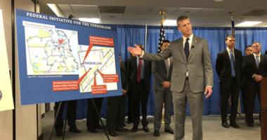 US Attorney David Anderson announced a crackdown on drug dealing in the Tenderloin neighborhood of San Francisco on Aug. 7, 2019.