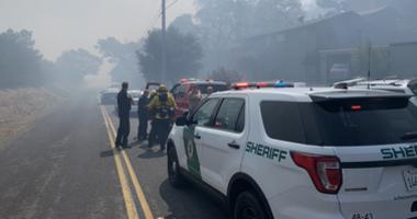 Evacuations were ordered due a fire near Highway 37 in Marin County on Sept. 10, 2019.