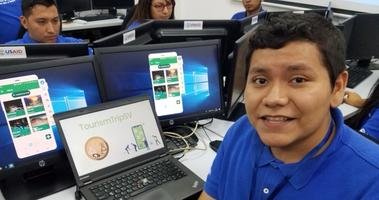 Salvadoran student Luis depends on US aid for his coding education