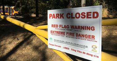 "Joaquin Miller Park in Oakland was shut on Sept. 24, 2019 due to fire danger, but Netflix continued recording a new episode of ""13 Reason Why"" despite the danger there."