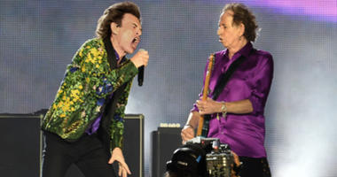 Mick Jagger and Keith Richards of The Rolling Stones perform onstage at Rose Bowl on August 22, 2019 in Pasadena, California.