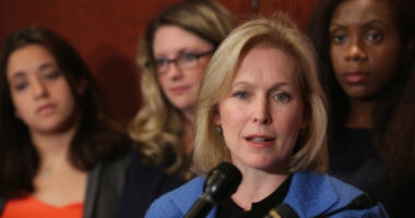 Sen. Kristen Gillibrand (D-NY) at a press conference about sexual assaults on college and university campuses at the U.S. Capitol Visitors Center July 30, 2014 in Washington, D.C.