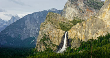 Bridalveil Fall in Yosemite National Park.