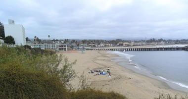 Cowell Beach in Santa Cruz.