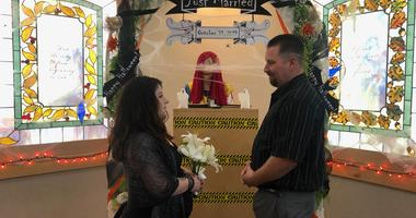 Halloween was the perfect day to get married for some couples in Martinez on Oct. 31, 2019.