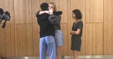 Gillroy Garlic Shooting Victims Brynn Ota-Matthews and Gabriella Gaus showing gratitude toward medical staff At Santa Clara Valley Medical Center